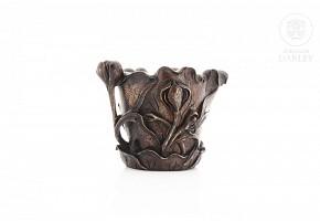 Copa de libación en madera china tallada, s.XIX