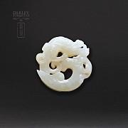 Colgante de Jade Natura forma de dragón antiguo. - 1