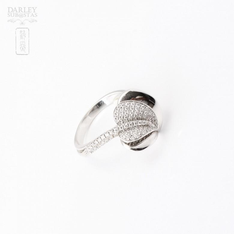 Anillo Diamantes en oro blanco de 18k. - 3