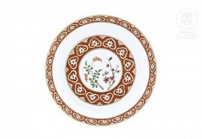 Porcelain enameled dish, 20th century