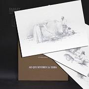 Conrado Meseguer Munoz 3 Lithographs 版画