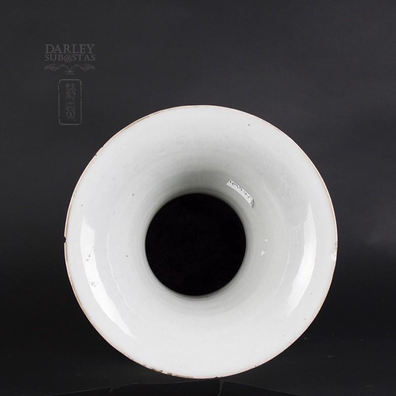 Gran jarrón de porcelana china siglo XIX. - 5