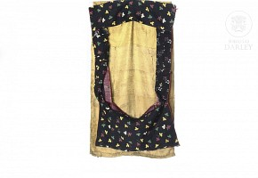 Silk and linen Thangka frame.
