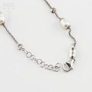 Pulsera en plata y perlas - 1