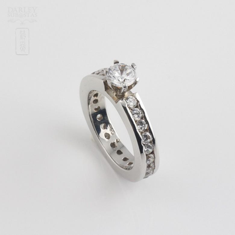 Ring Zircons in Sterling Silver, 925