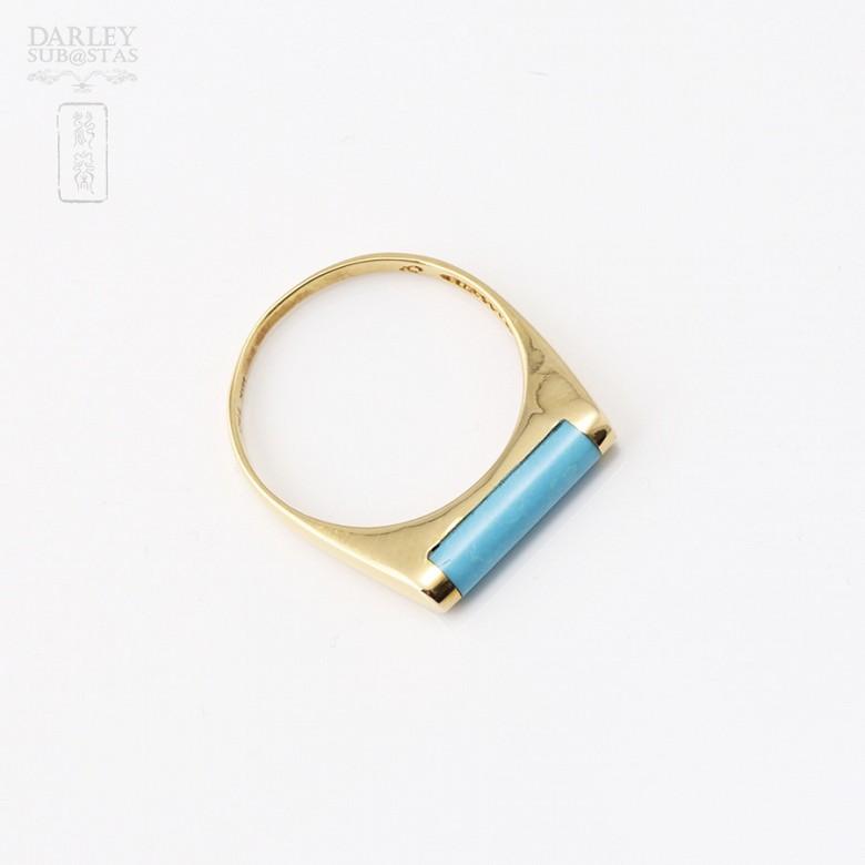 18K黄金戒指镶松石 - 1