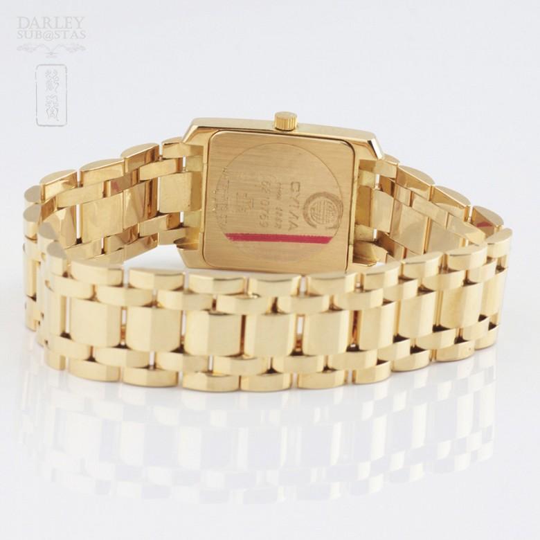 Precious gold and diamond watch Cyma - 2