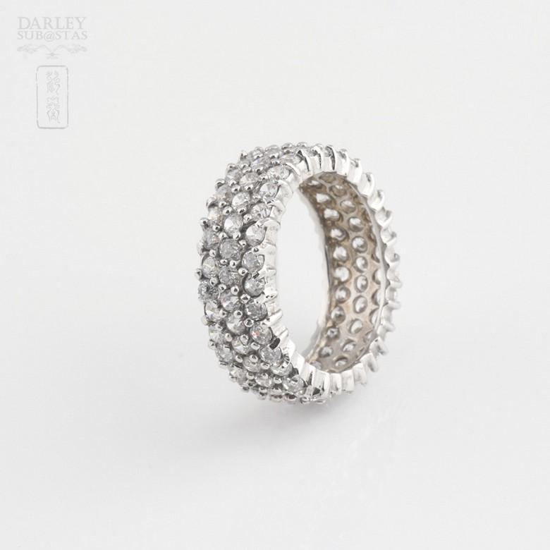 Bonito anillo en plata-rodio y circonitas - 3