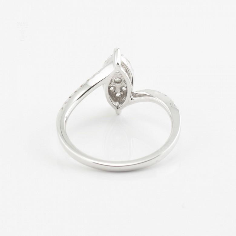 Beautiful ring white gold and diamonds 0.50cts - 2
