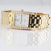 Precious gold and diamond watch Cyma - 1