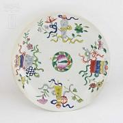 十九世纪彩绘瓷盆