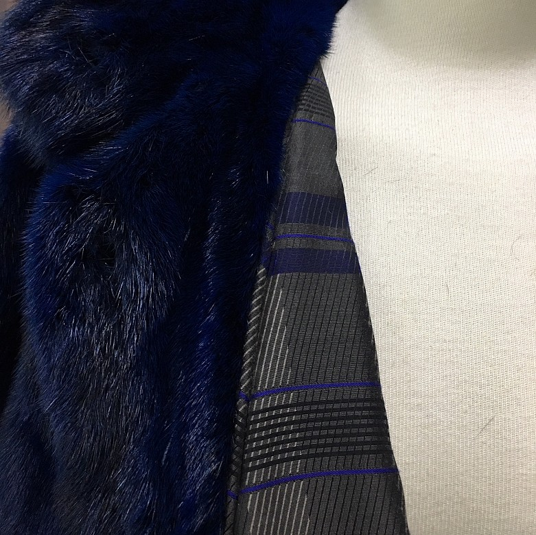 Nice blue mink fur coat - 1