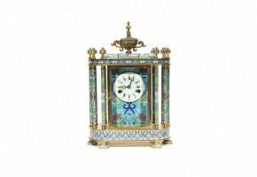 A Bronze Cloissoné mantel clock, s.XX