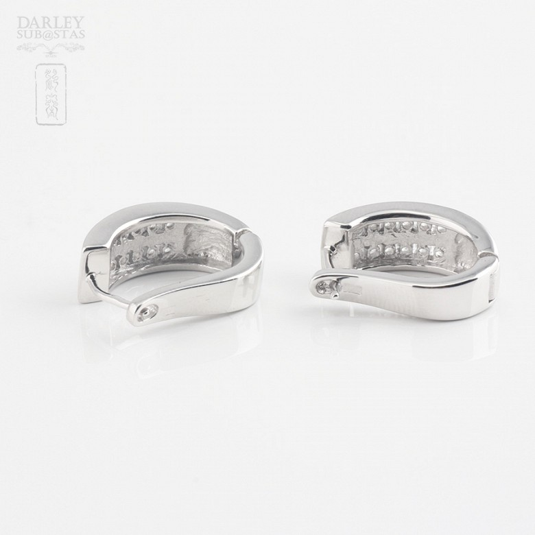 Zirconia earrings in sterling silver, 925m / m - 1