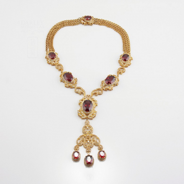 Faller dressing Ruby red and gold - 4