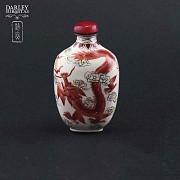 China monkfish bottle enameled metal