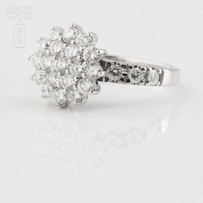 Fantástico anillo en oro blanco 18k y 1.18cts diamantes - 1