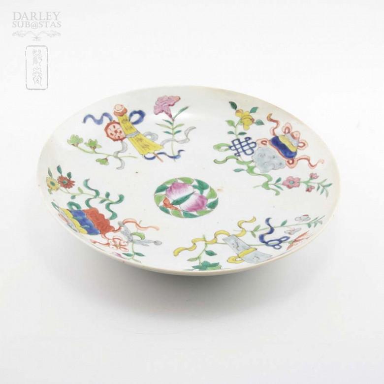 十九世纪彩绘瓷盆 - 1