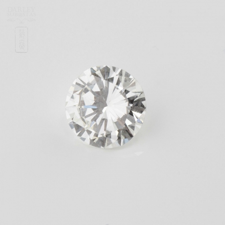 Diamante natural, talla brillante, color G, pureza VVS2, de peso  1.11 cts ,