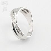 Beautiful ring 18k white gold and diamonds 0.14cts - 4