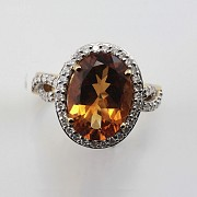0.65cts fantastic ring with diamonds and 18k yellow gold citrine - 5