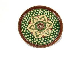 Plato de cerámica esmaltada, China, dinastía Tang