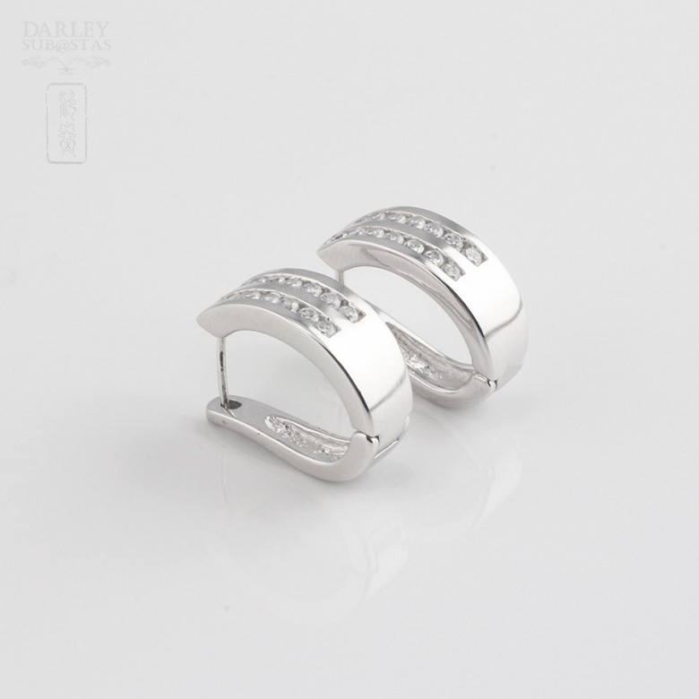 Zirconia earrings in sterling silver, 925m / m - 3