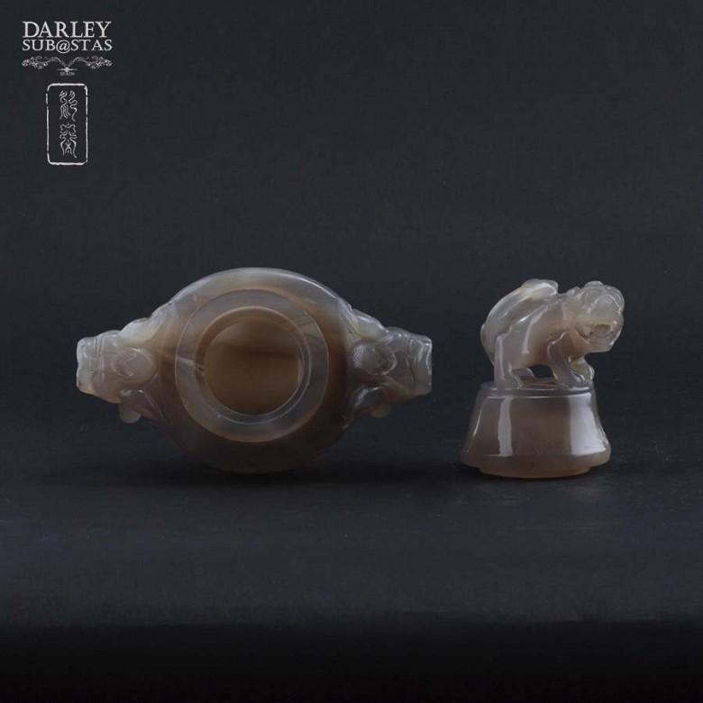 Chinese vase ornamental agata - 1