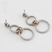 Earrings in sterling silver bicolor, 925 m / m - 3