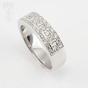 0.46cts beautiful diamond ring and white gold 18k - 1