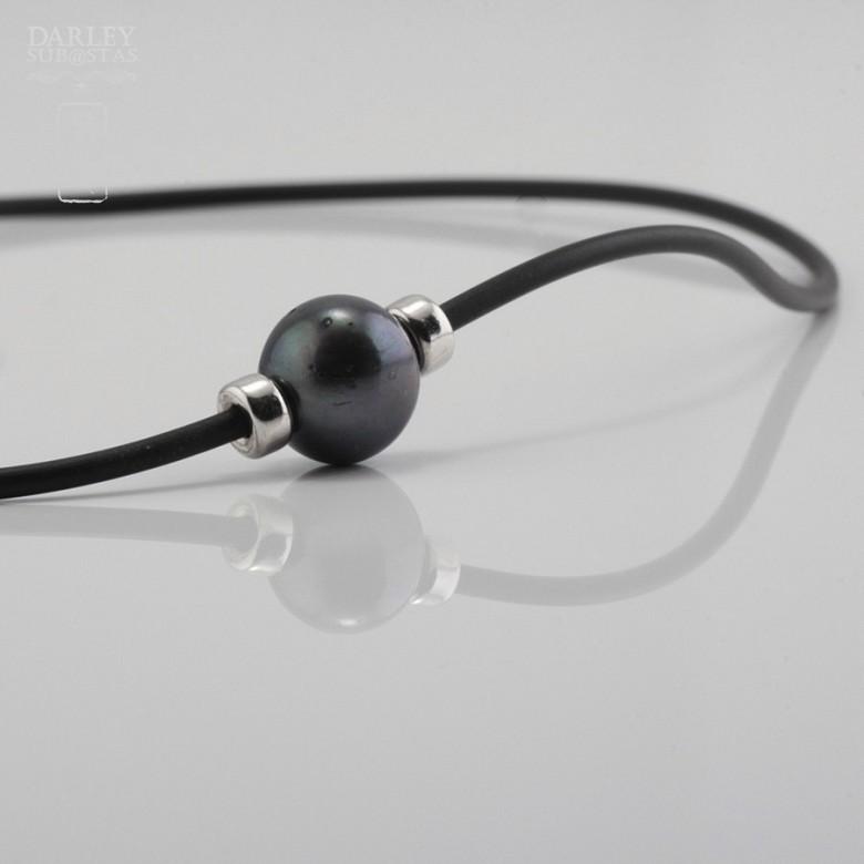 925银配黑珍珠项链 - 4