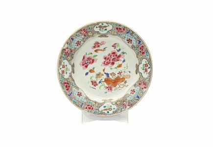 Plato de porcelana china, s.XVIII