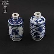 Pareja de jarrones de porcelana china, S.XIX
