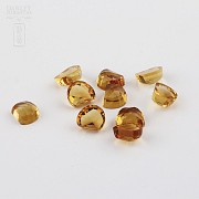 Lot 10 11.50cts citrines honey colored - 2