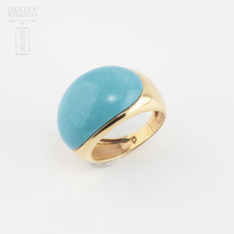 18K黄金绿松石戒指