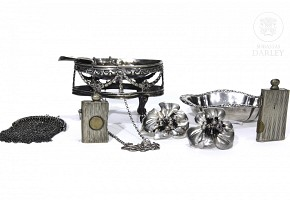 Lot of silver pieces, 20th century