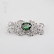 Faller dressing emerald green and silver Rhodium - 5