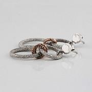 925雙色銀耳环 - 1