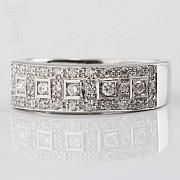 Precioso anillo diamantes 0.46cts y oro blanco 18k - 2
