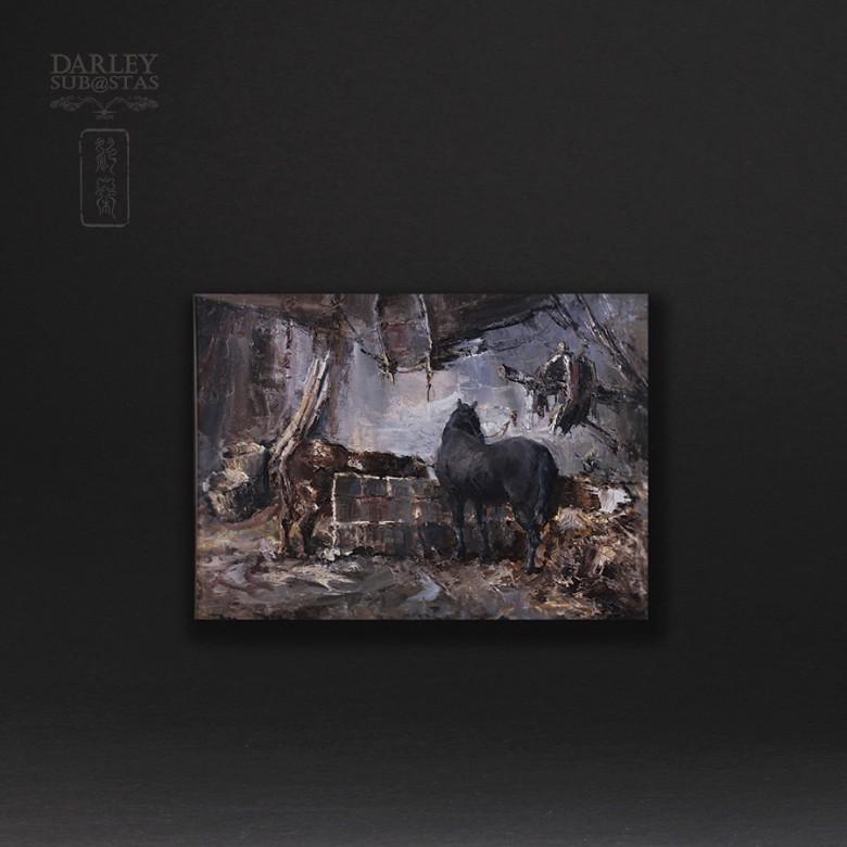 """""""马厩  """".   Alfonso Ortuño(印象派) - 2"""