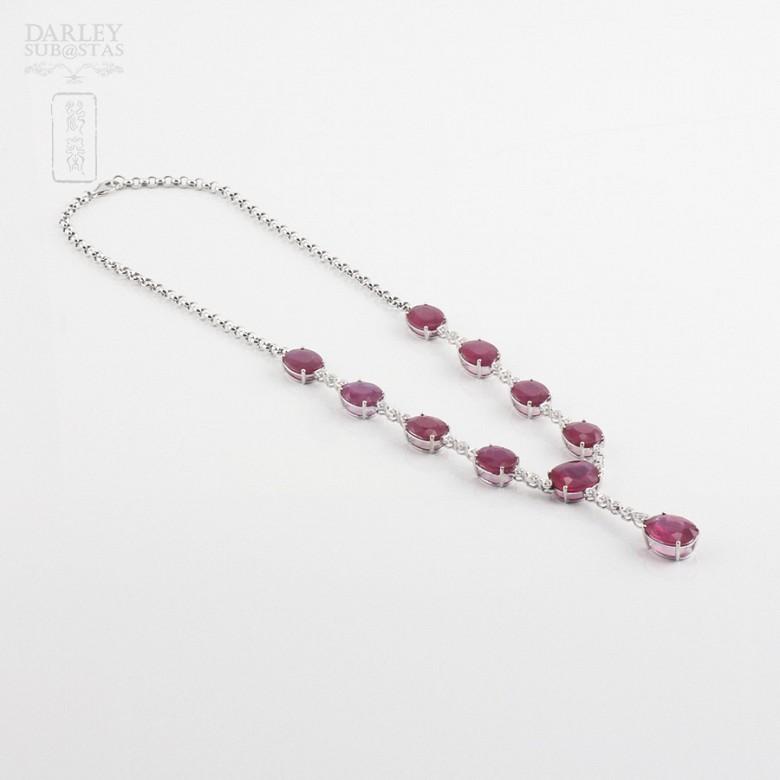Fantastico Collar rubis y diamantes - 2