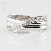 18k白金镶 0.14  克拉鑽石戒指