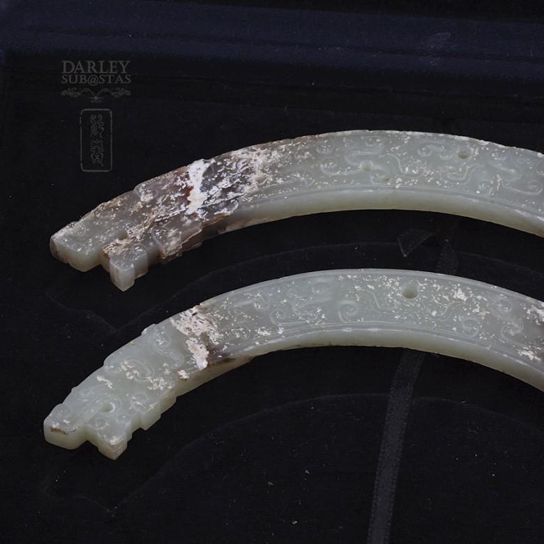 Pareja de Jades, Dinastía Zhou Reinos Combatientes - 1