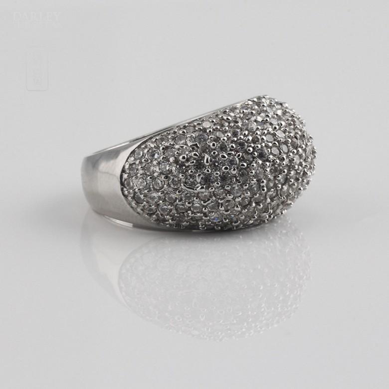 Ring zircons in sterling silver , 925 - 1