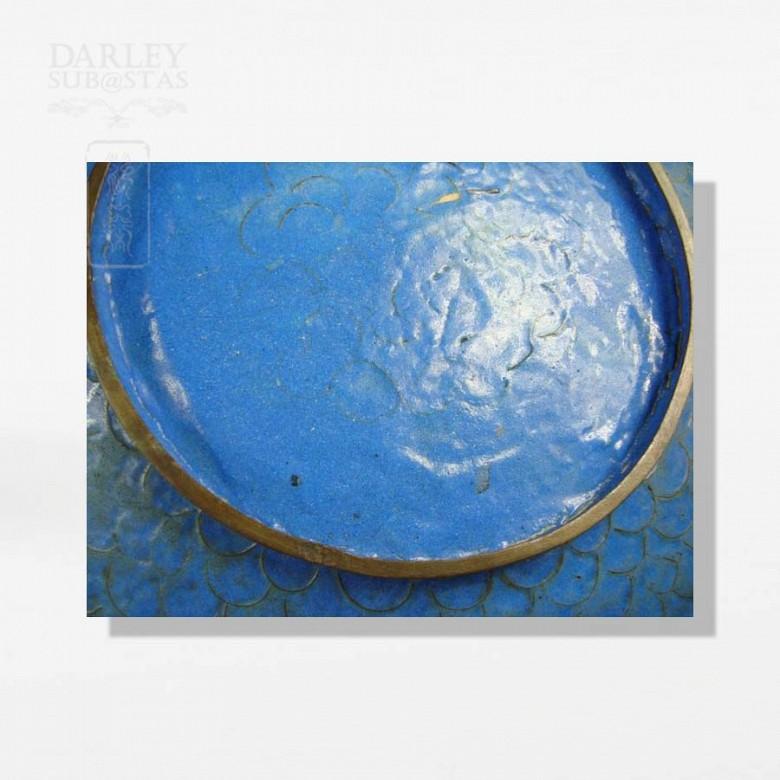 Pair of enameled plates - 3