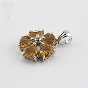 Colgante en oro amarillo de 14k con citrino 2.10cts y diamantes - 2