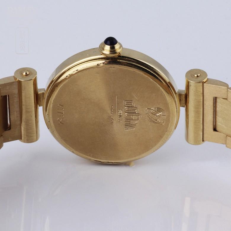 18K 黄金瑞士Dogma 镶钻石女士腕表 - 2