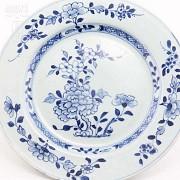 十八世纪青花花卉瓷盆 - 1