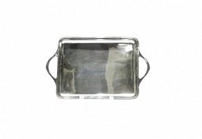 Silver tray, spanish marks, mid 20th century