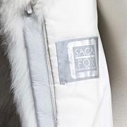 Long white fox fur coat. - 7